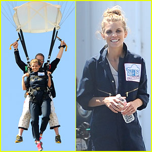 AnnaLynne McCord Sky Dives for Somaly Mam