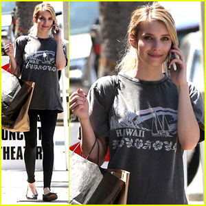 Emma Roberts: American Apparel Shopper