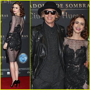 Lily Collins & Jamie Campbell Bower: 'Mortal Instruments' Mexico City Premiere