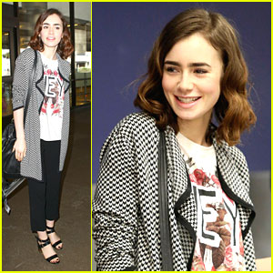 Lily Collins Arrives Back in LA After 'Mortal' Mexico Premiere