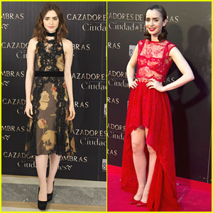 Lily Collins & Robert Sheehan: 'Mortal Instruments' Madrid Premiere & P
