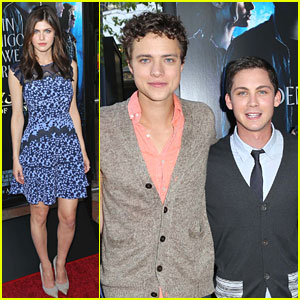 Logan Lerman & Alexandra Daddario: 'Percy Jackson' Premiere with Douglas Smith