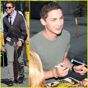 Logan Lerman: 'Jimmy Kimmel Live' Appearance - Watch Now!