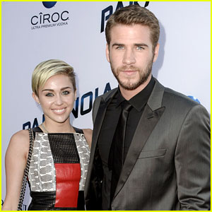 Miley Cyrus & Liam Hemsworth: 'Paranoia' Premiere Couple!