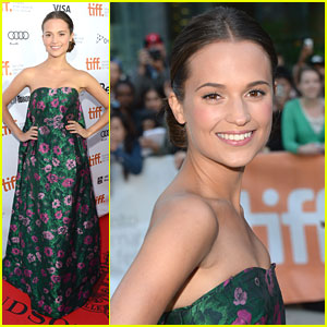Alicia Vikander: 'The Fifth Estate' Premiere at TIFF 2013