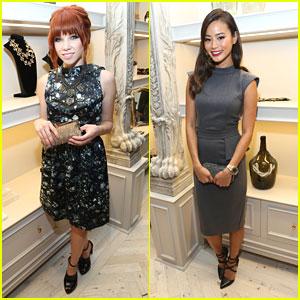 Carly Rae Jepsen & Jamie Chung: Badgley Mischka NYC Store Opening