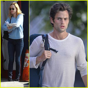 Dakota Johnson & Penn Badgley: 'Cymbeline' NYC Set!
