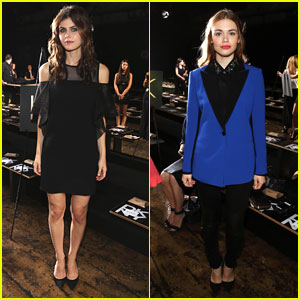Holland Roden & Alexandra Daddario: DKNY Front Row at NYFW