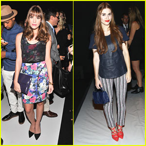 Holland Roden & Christa B. Allen: Rebecca Minkoff Runway Show at NYFW