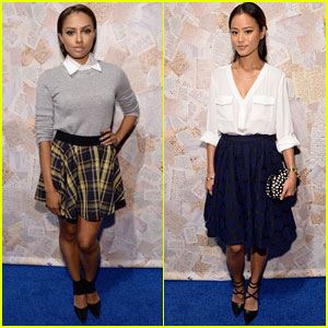 Jamie Chung & Kat Graham: Alice + Olivia Fashion Show