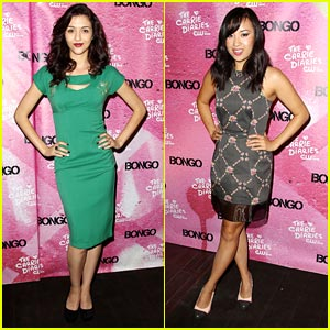 Katie Findlay: 'Carrie Diaries' Premiere with Ellen Wong!