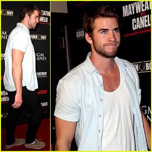 Liam Hemsworth Attends Mayweather vs. Alvarez Fight!