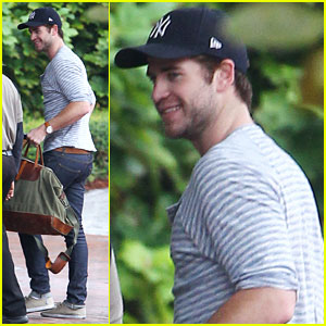 Liam Hemsworth: Back in Atlanta for 'Mockingjay' Filming