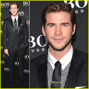 Liam Hemsworth: Hugo Boss Flagship Opening