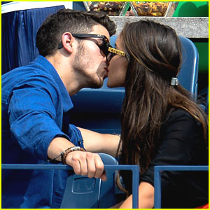 Nick Jonas Kisses Olivia Culpo at US Open