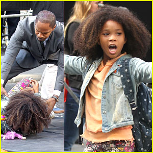 Quvenzhane Wallis: Knocked Down on 'Annie' Set