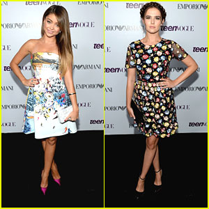Sarah Hyland & Zoey Deutch - Teen Vogue Young Hollywood Party 2013