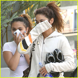 Vanessa & Stella Hudgens Hide Faces After Workout