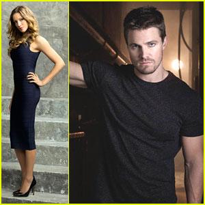 Stephen Amell & Katie Cassidy: New 'Arrow' Promo Pics!