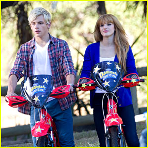Bella Thorne & Ross Lynch: New 'Danimals' Commercial Shoot