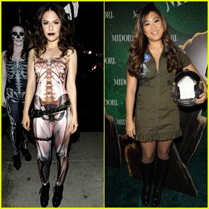 Jenna Ushkowitz & Erin Sanders: Midori Green Halloween Party 2013