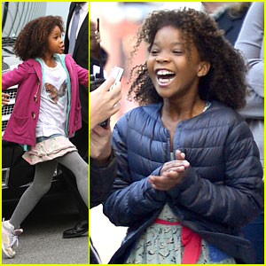 Quvenzhane Wallis: 'Annie' Set with Rose Byrne