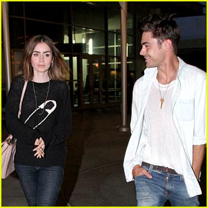 Zac Efron: Movie Night with Lily Collins!