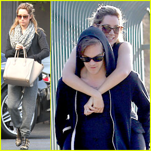 Ashley Tisdale: Piggy Back Ride from Christopher French
