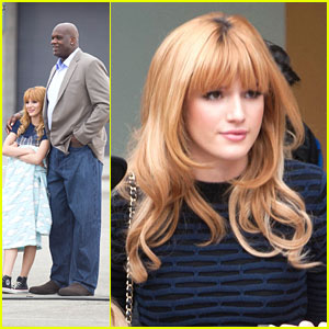 Bella Thorne: Studio Stop Before Shoot with Shaquille O'Neal