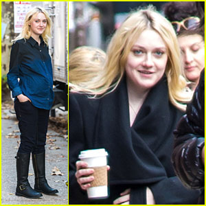 Dakota Fanning: Fake Baby Bump & Wedding Ring on 'Franny' Film Set