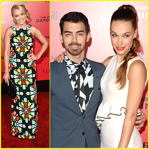 Joe Jonas & Blanda Eggenschwiler: 'Catching Fire' Premiere with Emily Osment!