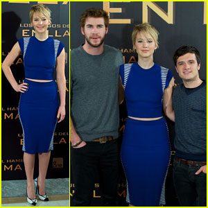 Jennifer Lawrence & Liam Hemsworth: 'Hunger Games: Catching Fire' Madrid Photo Call