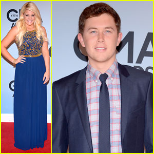 Lauren Alaina & Scotty McCreery: CMA Awards 2013 Red Carpet