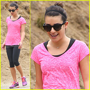 Lea Michele: Hot Pink Hiker
