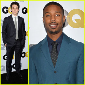 Michael B. Jordan & Miles Teller: 'GQ' Men Of The Year Party