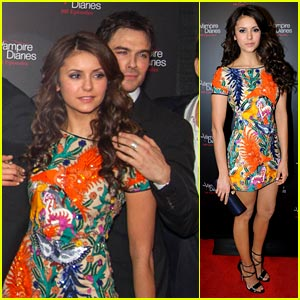 Nina Dobrev & Ian Somerhalder: 'Vampire Diaries' 100th Episode Party!