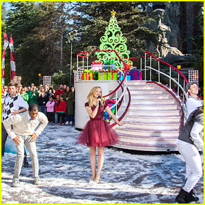 Dove Cameron: 'Let it Snow' at Disney Christmas Parade - Watch Now!