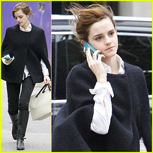 Emma Watson: Windy Shopping Spree!