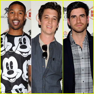 Michael B. Jordan & Miles Teller: Vegas Night Out!
