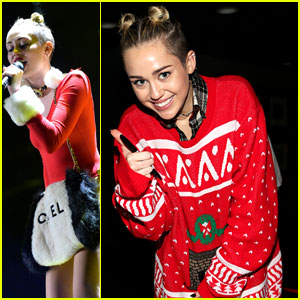 Miley Cyrus: Stolen Sweater at Tampa Jingle Ball!