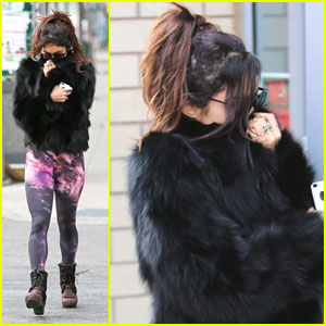 Vanessa Hudgens: Galaxy Leggings in NYC
