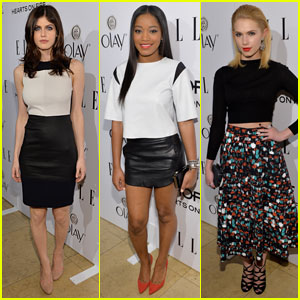 Alexandra Daddario & Keke Palmer: Elle's Women in TV Celebration 2014