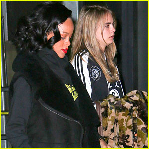 Cara Delevingne: Nets Game with Rihanna
