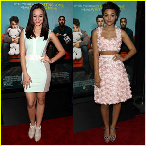 Hayley Orrantia & Kiersey Clemons: 'That Awkward Moment' L.A. Premiere
