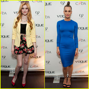 Katherine McNamara & Blanda Eggenschwiler: CFDA Vogue Eyewear Launch Party