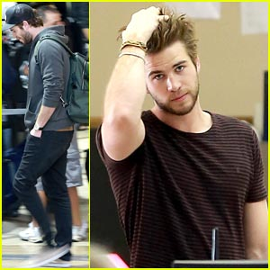 Liam Hemsworth: Ready for Take Off at LAX