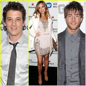 Miles Teller & Arielle Kebbel: Warner Music Group Grammys After-Party 2014