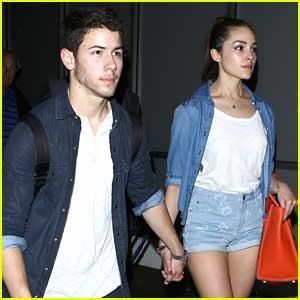 Nick Jonas & Olivia Culpo: Hand-Holding at LAX