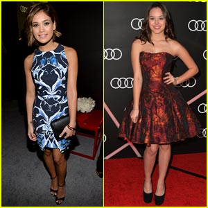 Nicole Anderson & Hayley Orrantia: Pre-Golden Globes Party Pair!