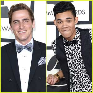 Roshon Fegan & Kendall Schmidt: Bow Ties at Grammys 2014